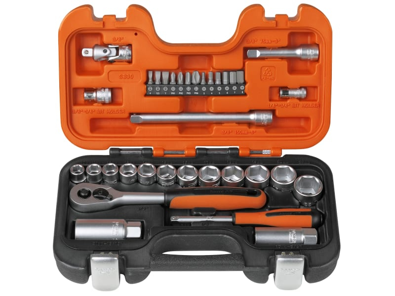 S330 Socket Set of 34 Metric 1/4in & 3/8in Drive