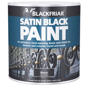 Satin Black Paint 500ml