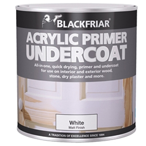 Quick Drying Acrylic Primer Undercoat White 250ml