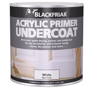 Quick Drying Acrylic Primer Undercoat White 500ml