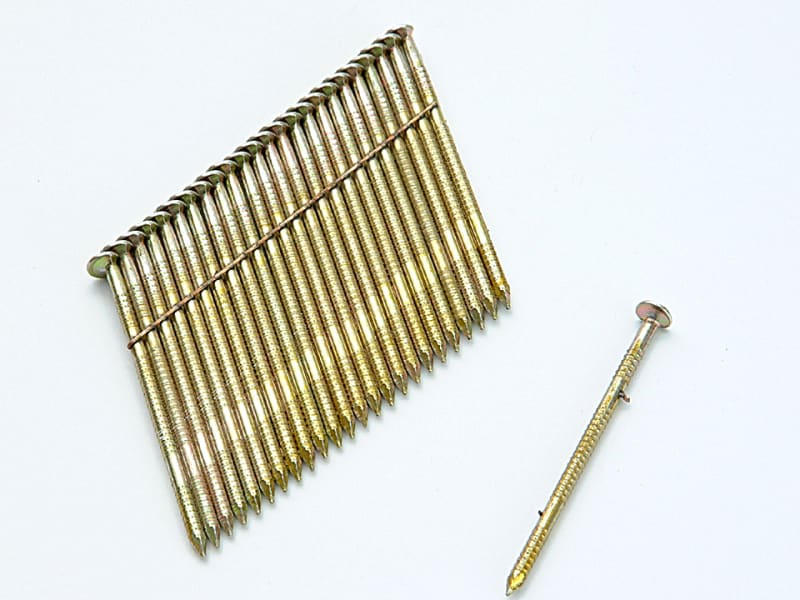 28 Bright Smooth Shank Stick Nails 2.8 x 75mm Pack of 2000