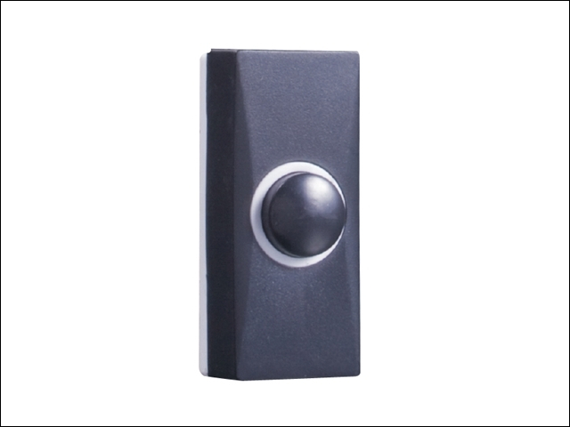7900 Wired Doorbell Additional Chime Bell Push Black