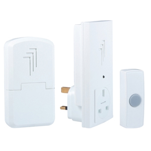 DB313 Wireless Doorbell Kit wi th Portable & Plug Through Chi