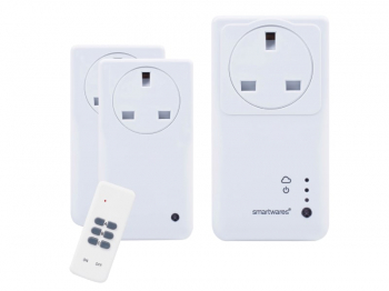 SmartHome Remote Control WiFi Socket Set With App 3 Piece