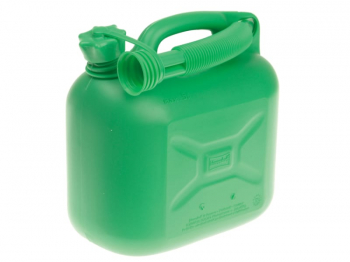 Unleaded Petrol Can & Spout Green 5 litre