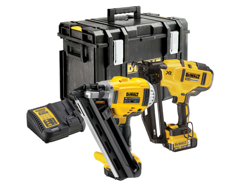 DCK264P2 XR Nailer Twin Pack 18V 2 x 5.0Ah Li-Ion