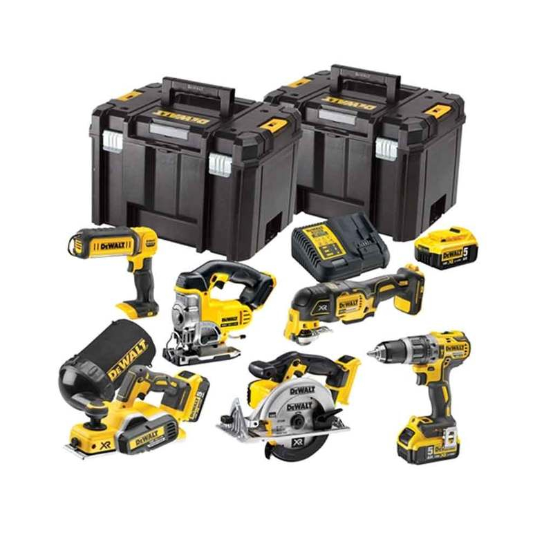 DCK665P3T XR Compact 6 Piece Wood Working Kit 18V 3 x 5.0Ah