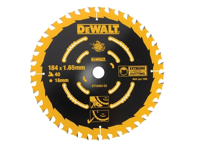 Extreme Framing Circular Saw Blade 184 x 16mm x 40T