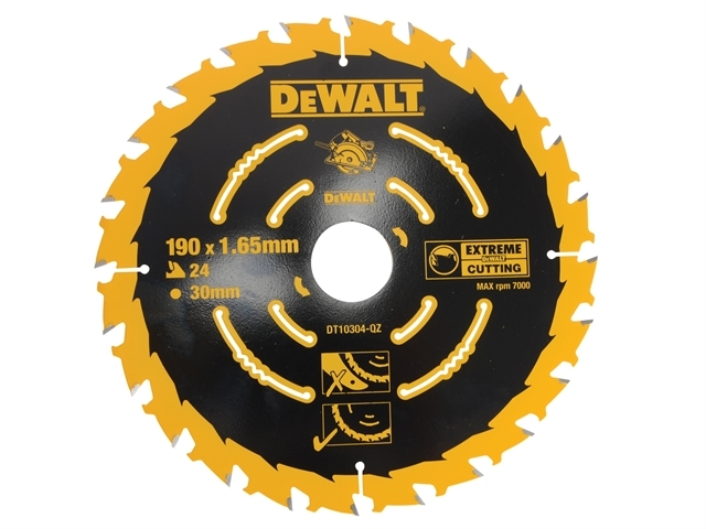 Extreme Framing Circular Saw Blade 190 x 30mm x 24T