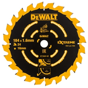 Cordless Mitre Saw Blade For DCS365 184 x 16mm x 24T