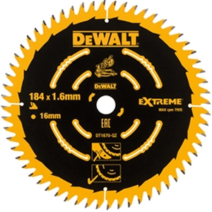 Cordless Mitre Saw Blade For DCS365 184 x 16mm x 60T Fine