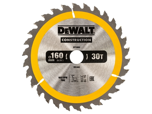 Construction Circular Saw Blade 160 x 20mm x 30T