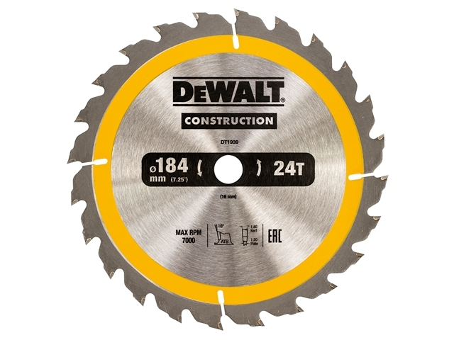 Construction Circular Saw Blade 184 x 16mm x 24T