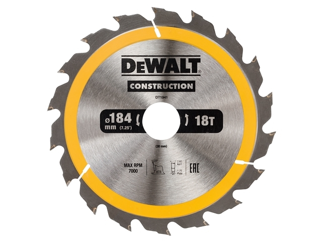 Construction Circular Saw Blade 184 x 30mm x 18T