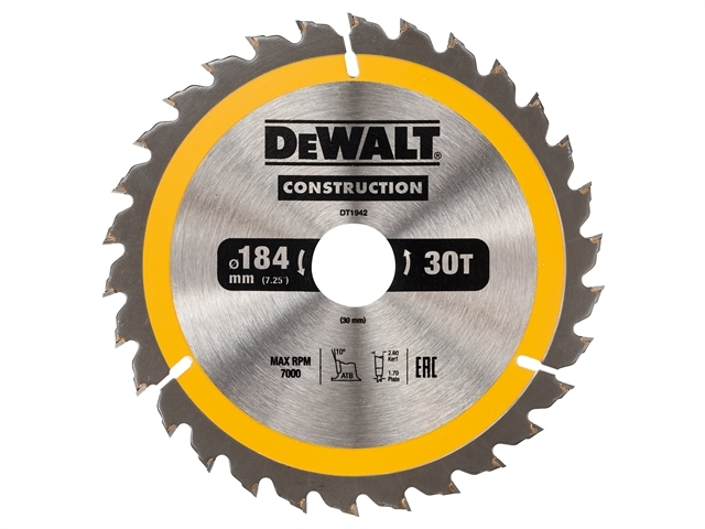 Construction Circular Saw Blade 184 x 30mm x 30T