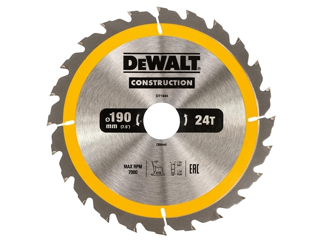 Construction Circular Saw Blade 190 x 30mm x 24T