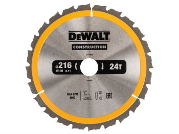 DT1952 Stationary Construction Circular Saw Blade 216 x 30mm