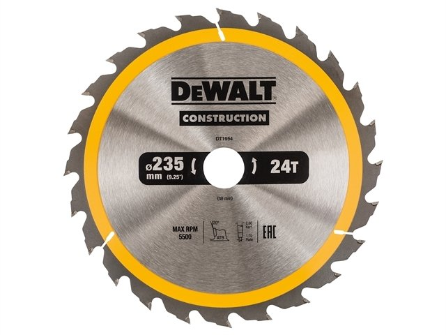 Construction Circular Saw Blade 235 x 30mm x 24T