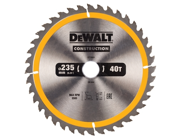 Construction Circular Saw Blade 235 x 30mm x 40T