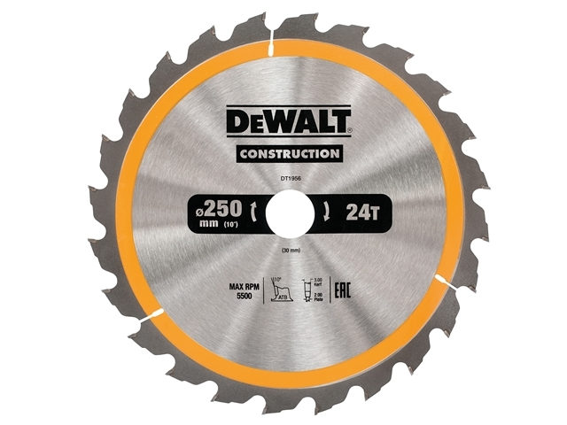 Stationary Construction Circul ar Saw Blade 250 x 30mm x 24T