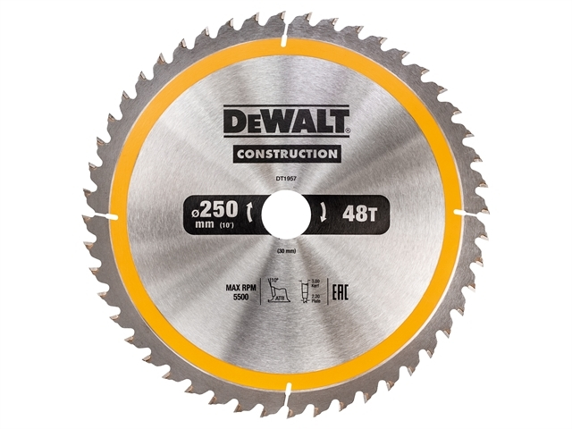 Stationary Construction Circul ar Saw Blade 250 x 30mm x 48T