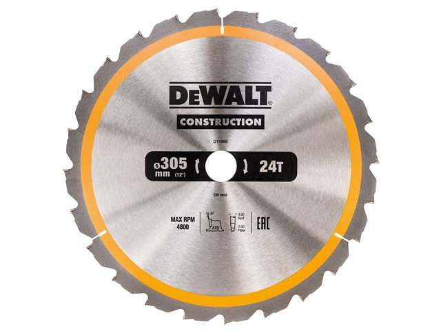 Stationary Construction Circul ar Saw Blade 305 x 30mm x 24T