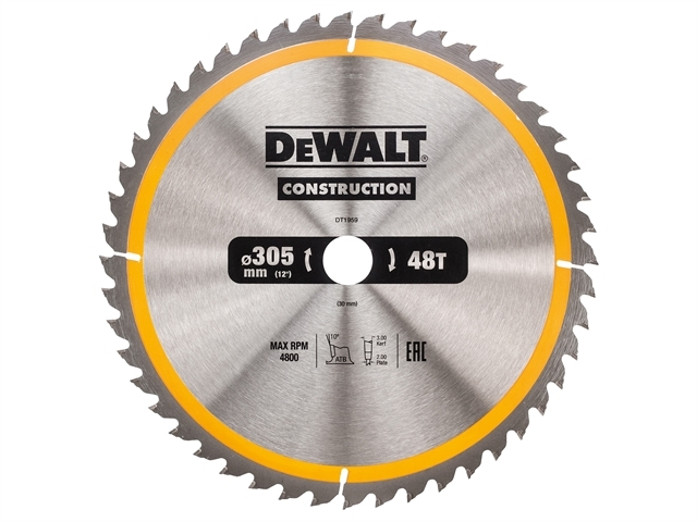Stationary Construction Circul ar Saw Blade 305 x 30mm x 48T