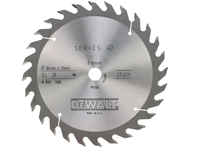 Series 40 Circular Saw Blade 184 x 16mm x 28T