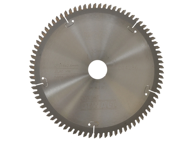 Series 40 Circular Saw Blade 216 x 30mm x 80T TCG/Neg