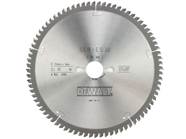 Series 40 Circular Saw Blade 250 x 30mm x 80T TCG/Neg