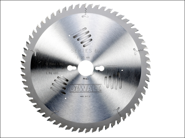 Series 60 Circular Saw Blade 250 x 30mm x 60T