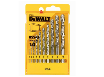 DT5921 Extreme Metal Drill Bit Set, 10 Piece