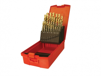 A095 Set 201 A002 HSS TiN Coat ed Jobber Drill Set of 19 1.0-