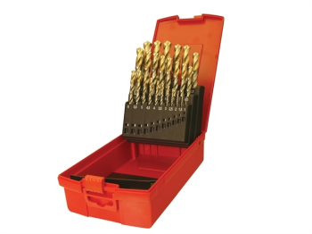 A095 Set 204 HSS TiN Coated Jo bber Drill Set of 25 1.0-13.0