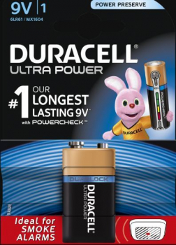 9V Cell Ultra Power Battery (Single Pack)