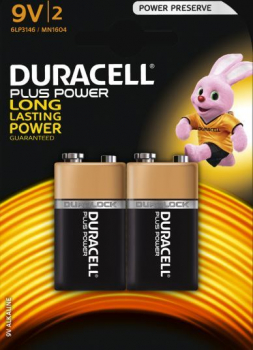 9V Cell Plus Power MN1604/6LR6 Batteries (Pack 2)