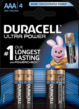AAA Cell Ultra Power RO3A/LR03 Batteries (Pack 4)