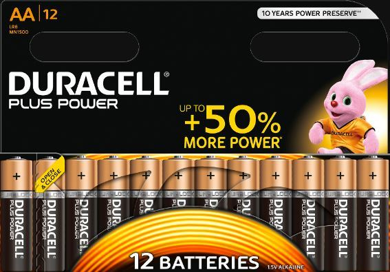 AA Cell Plus Power Batteries Pack of 12 LR6/HP7