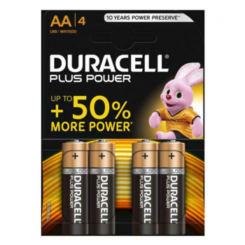 AA Cell Plus Power LR6/HP7 Batteries (Pack 4)