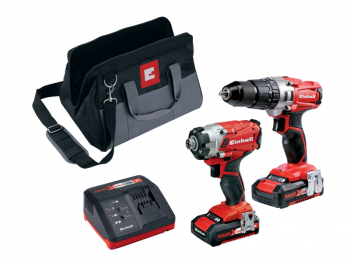 Power X-Change Combi & Impact Driver Twin Pack 18V 2 x 2.0Ah