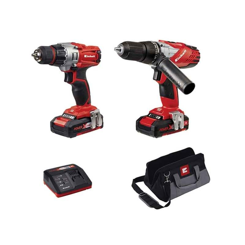 Power-X-Change Combi & Drill Driver Twin Pack 18V 2 x 1.5Ah