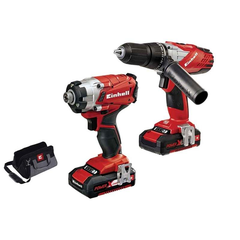 Power-X-Change Combi & Impact Driver Twin Pack 18V 2 x 1.5Ah