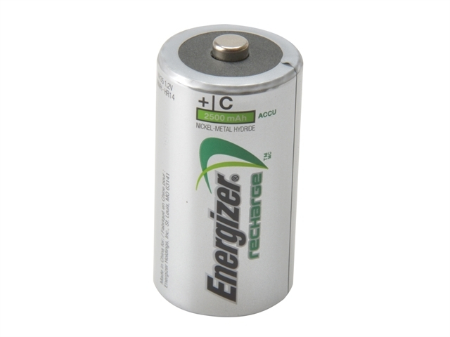 C Cell Rechargeable Power Plus Batteries RC2500 mAh Pack of