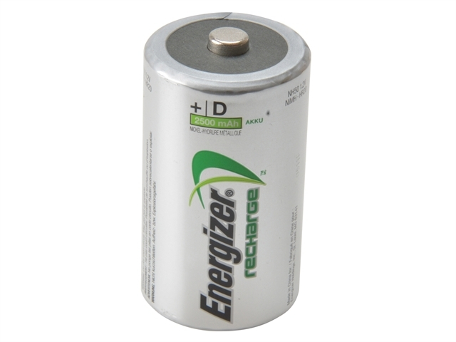 D Cell Rechargeable Power Plus Batteries RD2500 mAh Pack of