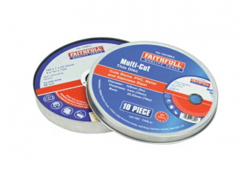 Multi-Purpose Cutting Disc 125 x 1.0 x 22.23mm (Pack of 10)
