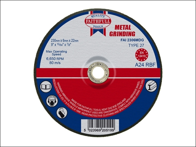 Depressed Centre Metal Grinding Disc 230 x 6.5 x 22mm
