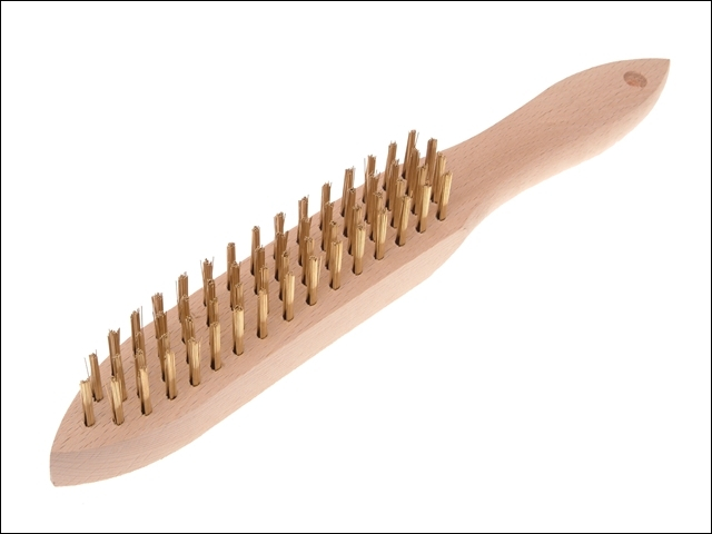 680/B4 Brass Wire Scratch Brush - 4 Row