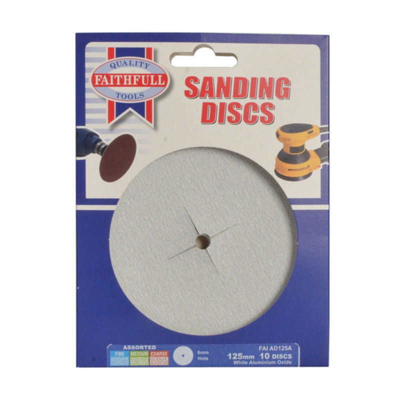 Paper Sanding Disc 6 x 125mm Fine (Pack of 5)