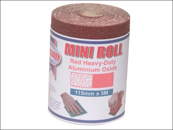 Aluminium Oxide Sanding Paper Roll Red Heavy-Duty 115mm x 5m