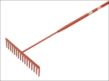 Asphalt Rake 16 Flat Teeth - Tubular Steel Shaft